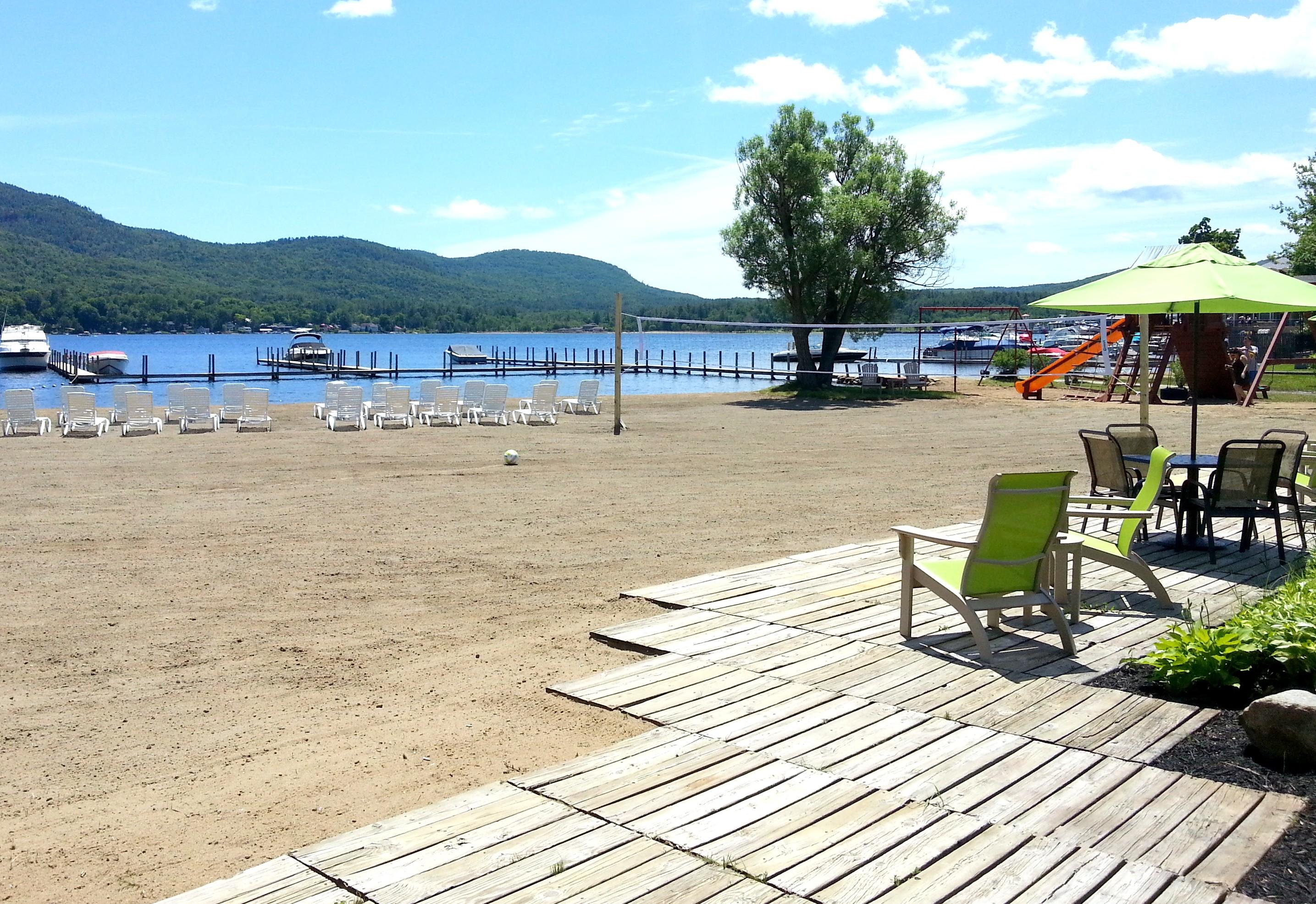 Lake George beachfront