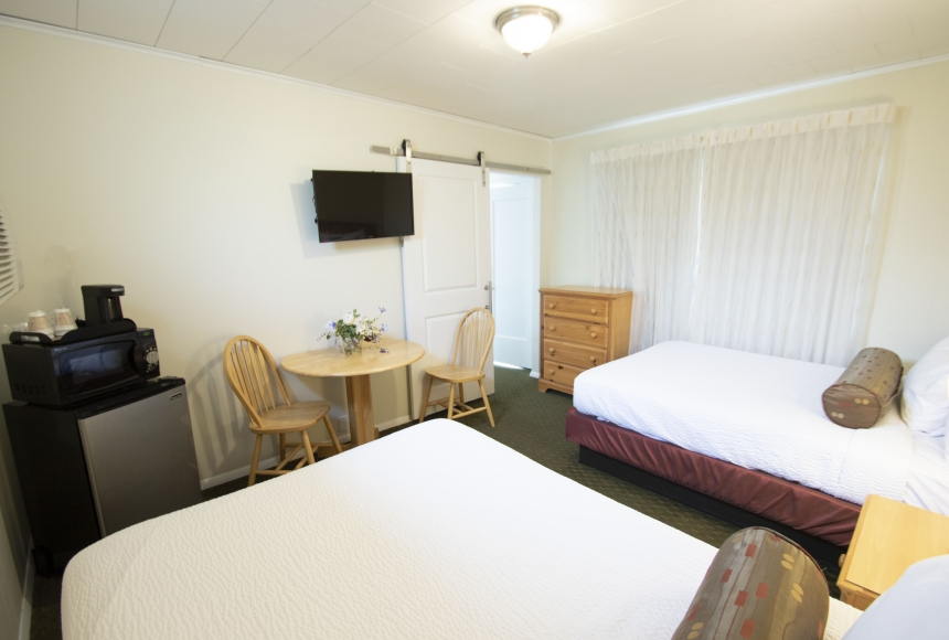 Two room suite with two beds